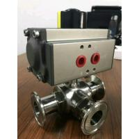 3 position valve actuator pneumatic  3 way ball valve with pneumatic actuator