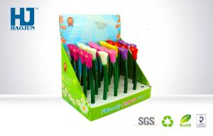 China Lightweight Cardboard Pop Display Box For Colorful Flower-Shaped Pen on sale