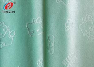 China 100 polyester emobssed kintting minky plush fabric printed blanket fabric for baby on sale