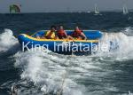 PVC Material Crazy Towable UFO Inflatable Fly Fishing Boats Safe And Environment