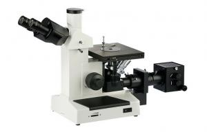 China Double Layer Stage Inverted Trinocular Digital Metallurgical Microscope with 10X Eyepiece on sale