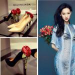 Bombas calientes de cuero elegantes 2015 del vestido sexy de Rose de la venta de Highheels Genuin de las mujeres de la marca de Lastest