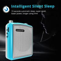 Stereo Echo Pa Amplifier UHF Headset Wireless Microphone Loud Speaker Intelligent Smart Wake Up Sleep Auto Connecting