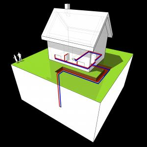 China Ground source heat pump high efficiency,heating and cooling,ground heat pump,geothermal source heat pump,76kw Meeting heat pump on sale