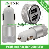 China LED light 2 USB car charger 5V 2.1A multiple colors available on sale