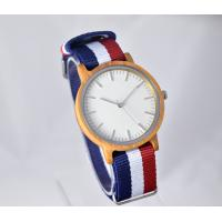 China thin wooden watches with nylon strap bamboo watches with Japan movement  wood band ,OEM/ODM are welcome,MOQ:100pcs on sale