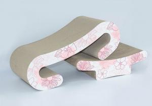 China Curved Corrugated Cardboard Cat ScratcherComfortable 4C Printing Colour on sale