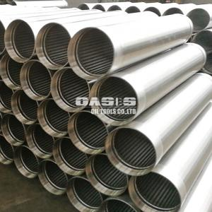 China China factory Oasis Directly supply Johnson wire wrapped screen / wedge V wire slot screen pipe on sale