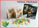 China Quad Seal Flat Bottom Pouch Side Gusseted Bag with Zipper For Food packaging wholesale