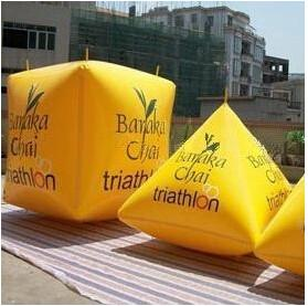 China Inflatable Swim Buoy In Cube Shape , Marker Buoys on sale