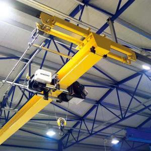 China Europe Standard Overhead Crane , Overhead crane with european type electric hoist on sale