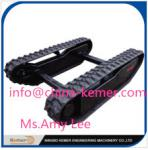 China rubber cralwer track undercarriage/Rubber Track Undercarriage with Curved Bridge Angle wholesale