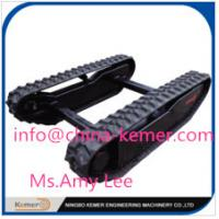 rubber cralwer track undercarriage/Rubber Track Undercarriage with Curved Bridge Angle