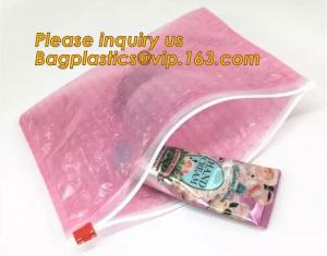 China Protection Usage For Packaging Slider Bags Air Bubble Bags,Biodegradable pvc made shock resistance transparent clear zip on sale