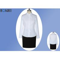 Office Uniform Shirts For Women , Perfect Long Sleeve White Shirt With Collar