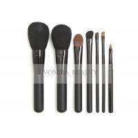 7 PCS Elegant Black Essential Makeup Brushes Set With Highest Quality Nature Bristles