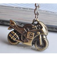 Promotional metal motorcycle drop pendant keychain,brass plated motorcycle charm ornament,