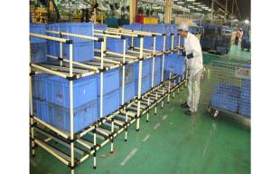 China Lean Plastic Coated Steel Pipe Storage Rack System 1.5mm Thickness Flexible Pipe on sale