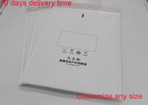 China White Print Poly Bubble Mailers 8.5 * 11 Inch Self Adhesive Seal With Matt Surface on sale