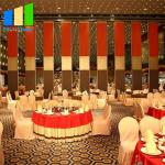 Office Sound Proof Partitions Movable Wood Finish Aluminum Frame For Wedding Hall