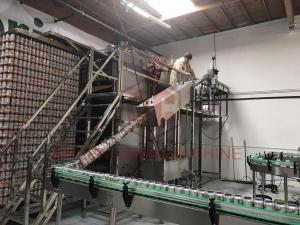 China 12000cph Aluminum Empty Can Depalletizer , Filling And Capping Machine on sale