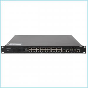 "China 28 port POE Network Switch layer 2 , 19"" 1U rack mount poe switch Support Console on sale"