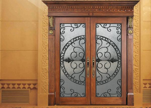 Glass Lowes Wrought Iron Entry Doors And Glass Agon Filled 2264