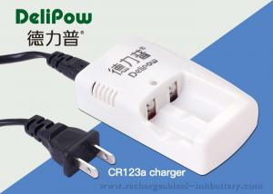 China Portable 2 Slots Nimh CR123A Charger For Rechargeable Batteries on sale