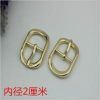 China Fashion popular hardware accessories 20 mm zinc alloy gold oval pin buckle for shoes clothing hardware accessories on sale
