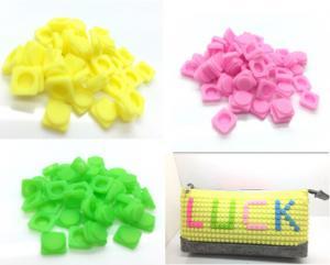 China New design silicone DIY pencil case ,silicone pixel pencil bag, silicone pencil case on sale