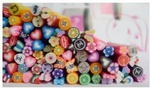 China Nail Art Original 3D polymer clay Fruits Flowers Butterflies Cakes,Stars Rods Mix set  on sale
