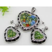 Stainless Steel Murano Glass Fashion Jewelry Set  1900196