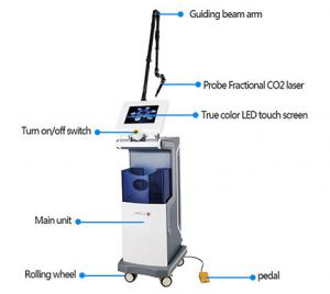 China Vertical Equipment Medical Co2 Fractional Laser Machine Scan removal Vaginal Tightening on sale
