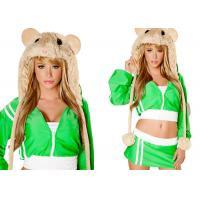 Green MC Hamster Female Halloween Costumes , New Styles Fancycosplay Halloween Costume