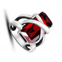 Latest Design Jewelry Punk Rock Red Stone Rings Non - Allergic For Women / Party