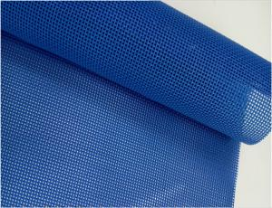 China Blue color Textilene Fabric, PVC Coated Polyester Mesh Pool Fence safety Fencing on sale