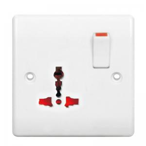 China Screw Connection Electric Switches and Sockets , 10A 250V  Electrical Wall Sockets  on sale