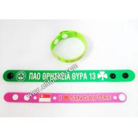 China 2019 New Promotional Rubber Long Customized Sublimation Printing Silicone Snap Wrist Bands on sale