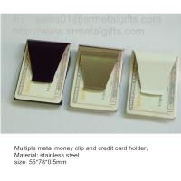 China Agrafes d'argent et support en acier fonctionnels de carte de crédit, 55*78*0.5mm, en stock, on sale