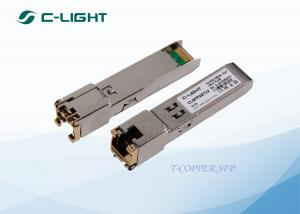 China 1.25G RJ45 100m SFP Transceiver Module , SFP-T Copper SFP Transceiver on sale