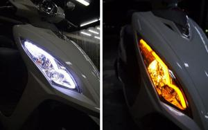 China HOT 2x 45cm Amber Switchback Headlight Audi Style white LED Strip Drl Run Light on sale