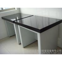 Flexible Science Lab Table Tops , Black / Off - White Lab Bench Furniture