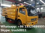 dongfeng 4*2 LHD 120Hp diesel street sweeper truck with factory price, hot sale best price dongfeng road sweeping truck