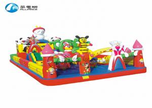 China Happy camp  inflatable jumping castle, commercial grade inflatable playground, fun multiplay inflatable  castle combo fo on sale