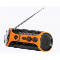 Crank Dynamo Led Flashlight Torches With Fm / Am Radio, Rechargeable Battery, Speaker