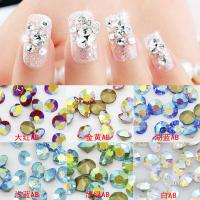 China Sweet Strass Point Back Round Chatons AB Colors Nail Decoration Garment Trim Cell Phone Case Ornament Leotard Accessory on sale