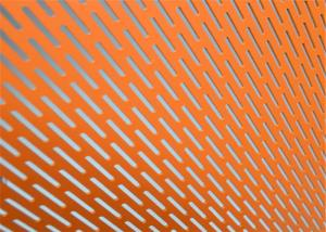 China 1mm Oblong Hole Slotted Hole Decorative Perforated Metal Sheet on sale
