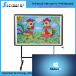 10-32points multitouch infrared water marker writable floor standing interactive electronic infrared whiteboard