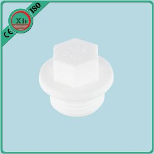 China No Calcification Plastic Pipe Plugs , PPR Threaded Pipe Plug Male Connection on sale