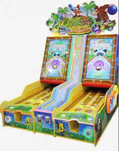 China Wood Coin Operated Game Machine , Arcade Bowling Machine For Children on sale
